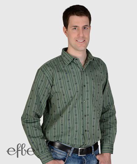 Langam grün gestreiftes Edelweiss Hemd