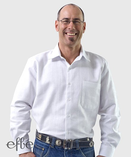 Edelweiss Hemd langarm in weiß frontale Ansicht