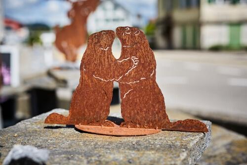 Tier rostfigur murmeltier alpenroesli for Rostfiguren tiere