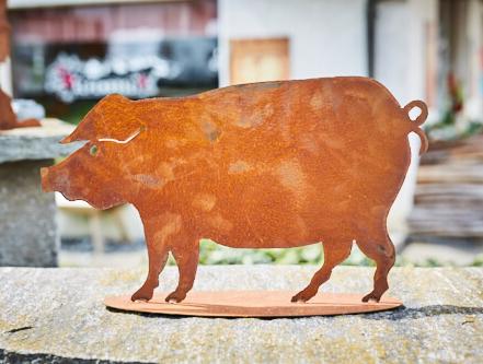 Schwein Rostfigur