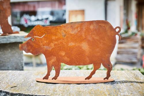 Tier rostfigur schwein alpenroesli for Rostfiguren tiere