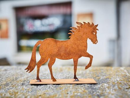 Pferd Rostfigur