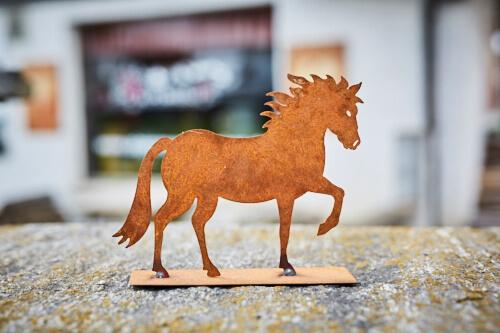 Tier rostfigur pferd klein alpenroesli for Rostfiguren tiere
